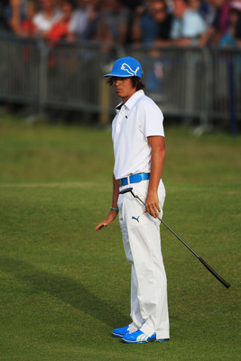 SANDWICH, ENGLAND - JULY 15:  Rickie Fowler of the United States putts onto the 18th green during the second round of The 140th Open Championship at Royal St George's on July 15, 2011 in Sandwich, England. (Photo by Streeter Lecka/Getty Images)