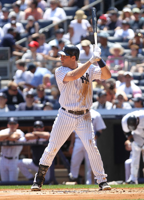 NEW YORK, NY - JULY 10:  Mark Teixeira #25 of the New York Yankees against the Tampa Bay Rays at Yankee Stadium on July 10, 2011 in the Bronx borough of New York City.  (Photo by Nick Laham/Getty Images)