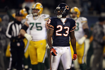 CHICAGO, IL - JANUARY 23:  Devin Hester #23 of the Chicago Bears looks on late in the fourth quarter against the Green Bay Packers in the NFC Championship Game at Soldier Field on January 23, 2011 in Chicago, Illinois.  (Photo by Jonathan Daniel/Getty Ima