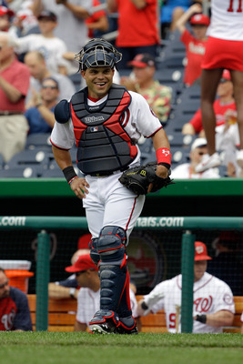 WASHINGTON, DC - JUNE 23: Ivan Rodriguez #7 of the Washington Nationals in action against the Seattle Mariners at Nationals Park on June 23, 2011 in Washington, DC.  (Photo by Rob Carr/Getty Images)
