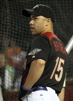 PHOENIX, AZ - JULY 12:  National League All-Star Carlos Beltran #15 of the New York Mets looks on during batting practice before the start of the 82nd MLB All-Star Game at Chase Field on July 12, 2011 in Phoenix, Arizona.  (Photo by Christian Petersen/Get
