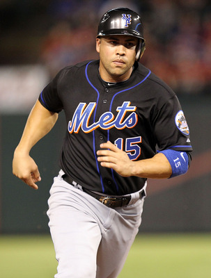 ARLINGTON, TX - JUNE 24:  Carlos Beltran #15 of the New York Mets at Rangers Ballpark in Arlington on June 24, 2011 in Arlington, Texas.  (Photo by Ronald Martinez/Getty Images)