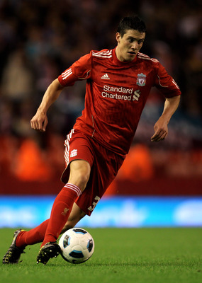 LIVERPOOL, ENGLAND - AUGUST 19:  Martin Kelly of Liverpool in action during the UEFA Europa League play-off first leg match beteween Liverpool and Trabzonspor at Anfield on August 19, 2010 in Liverpool, England.  (Photo by Alex Livesey/Getty Images)