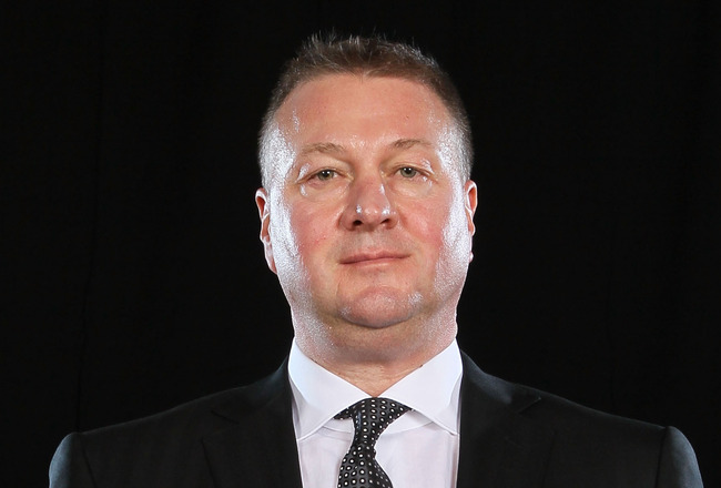 LAS VEGAS, NV - JUNE 22:  General Manager Mike Gillis of the Vancouver Canucks poses after winning the NHL General Manager of the Year Award during the 2011 NHL Awards at The Pearl concert theater at the Palms Casino Resort June 22, 2011 in Las Vegas, Nev