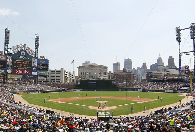 DETROIT - JULY 17:  A general view of Comerica Park during the game between the Chicago White Sox and the Detroit Tigers on July 17, 2011 in Detroit, Michigan. The Tigers defeated the White Sox 4-3.  (Photo by Leon Halip/Getty Images)