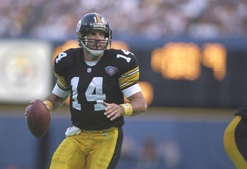 4 Sep 1994:  Quarterback Neil O''Donnell of the Pittsburgh Steelers looks to pass the ball during a game against the Dallas Cowboys at Three rivers Stadium in Pittsburgh, Pennsylvania.  The Cowboys won the game, 26-9. Mandatory Credit: Mike Powell  /Allsp