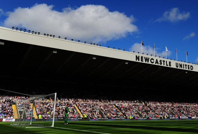 NEWCASTLE UPON TYNE, ENGLAND - MAY 22: A general view of St James' Park before the Barclays Premier League game between Newcastle United and West Bromwich Albion at St James' Park on May 22, 2011 in Newcastle upon Tyne, England.  (Photo by Stu Forster/Get