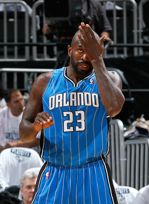 ATLANTA, GA - APRIL 22:  Jason Richardson #23 of the Orlando Magic against the Atlanta Hawks during Game Three of the Eastern Conference Quarterfinals in the 2011 NBA Playoffs at Philips Arena on April 22, 2011 in Atlanta, Georgia.  NOTE TO USER: User exp