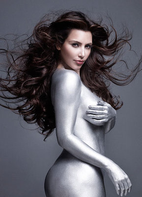 Kardashian Silver Body Paint on Kim Kardashian Silver Paint 2 Display Image