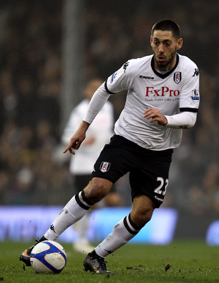 LONDON, ENGLAND - FEBRUARY 20:  Clint Dempsey of Fulham in action during the FA Cup sponsored by E.ON 5th Round match between Fulham and Bolton Wanderers at Craven Cottage on February 20, 2011 in London, England.  (Photo by Paul Gilham/Getty Images)