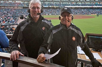Mike Krukow, left, and Duane Kuiper