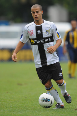 TRENTO, ITALY - JULY 17:  Sebastian Giovinco of FC Parma in action during a pre-season friendly match between FC Parma and Rappesentativa Trentino on July 17, 2011 in Levico Terme near Trento, Italy.  (Photo by Valerio Pennicino/Getty Images)
