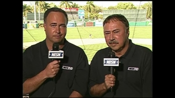 Don Orsillo, left, and Jerry Remy