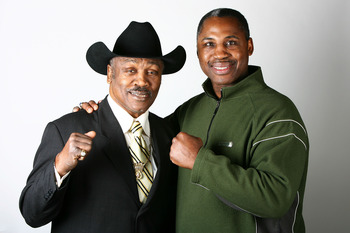 Marvis Frazier (right) never quite reached the heights of his father 'Smokin' Joe