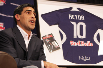 NEWARK, NJ - JULY 16:  Claudio Reyna of the New York Red Bulls speaks to the media during a press conference to announce his retirement at St. Benedict Prep School on July 16, 2008 in Newark, New Jersey  (Photo by Mike Stobe/Getty Images for New York Red