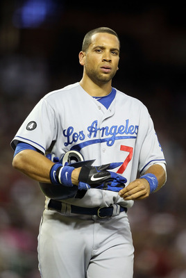 PHOENIX, AZ - JULY 15:  James Loney #7 of the Los Angeles Dodgers during the Major League Baseball game against the Arizona Diamondbacks at Chase Field on July 15, 2011 in Phoenix, Arizona. The Dodgers defeated the Diamondbacks 6-4.  (Photo by Christian P