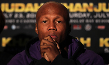 LOS ANGELES, CA - JUNE 08:  Zab Judah appears at a press conference with Amir Khan to discuss their upcoming Super Lightweight World Championship Unification Fight at ESPN Zone At L.A. Live on June 8, 2011 in Los Angeles, California.  (Photo by Stephen Du