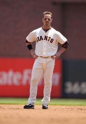 SAN FRANCISCO, CA - JUNE 08:  Aaron Rowand #33 of the San Francisco Giants in action against the Washington Nationals at AT&amp;T Park on June 8, 2011 in San Francisco, California.  (Photo by Ezra Shaw/Getty Images)