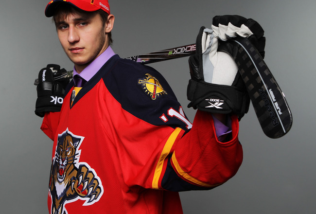 ST PAUL, MN - JUNE 25:  124th overall pick Yaroslav Kosov by the Florida Panthers poses for a portrait during day two of the 2011 NHL Entry Draft at Xcel Energy Center on June 25, 2011 in St Paul, Minnesota.  (Photo by Nick Laham/Getty Images)