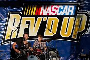 Not only do you get a race, but a concert too way to go NASCAR!