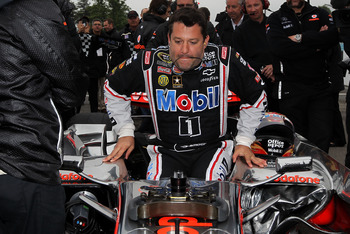 Tony Stewart getting ready to take that McLaren for a spin.