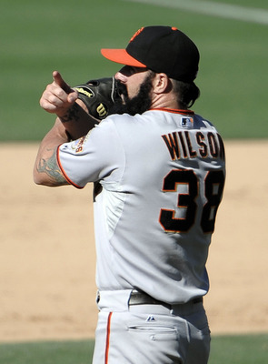 Brian Wilson earns another save for the Giants.