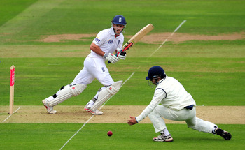 LONDON, ENGLAND - JULY 21:  England batsman Andrew Strauss picks up some runs during day one of the 1st npower test match between England and India at Lords on July 21, 2011 in London, England.  (Photo by Stu Forster/Getty Images)