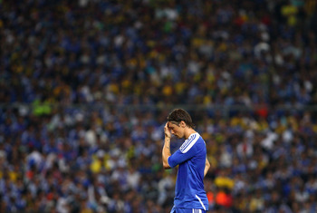 KUALA LUMPUR, MALAYSIA - JULY 21:  Fernando Torres of Chelsea looks on during the pre-season friendly match between Malaysia and Chelsea at Bukit Jalil National Stadium on July 21, 2011 in Kuala Lumpur, Malaysia.  (Photo by Ryan Pierse/Getty Images)