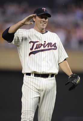 MINNEAPOLIS, MN - JULY 16: Joe Nathan #36 of the Minnesota Twins celebrates a win against the Kansas City Royals on July 16, 2011 at Target Field in Minneapolis, Minnesota. The Twins defeated the Royals 4-3. (Photo by Hannah Foslien/Getty Images)