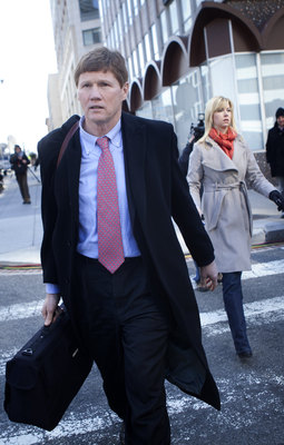 WASHINGTON - MARCH 4:   Mark Murphy, President and Chief Executive Officer of the Green Bay Packers, leaves during an extra day of NFL collective bargaining negotiations at the Federal Mediation and Conciliation Service building March 4, 2011 in Washingto