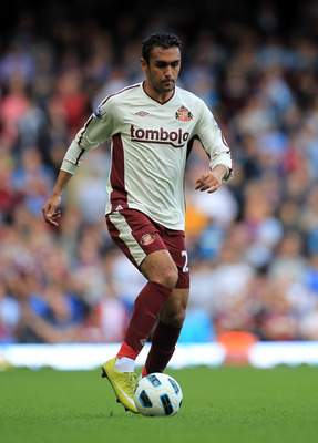 LONDON, ENGLAND - MAY 22:  Ahmed Elmohamady of Sunderland during the Barclays Premier League match between West Ham United and Sunderland at the Boleyn Ground on May 22, 2011 in London, England.  (Photo by David Cannon/Getty Images)