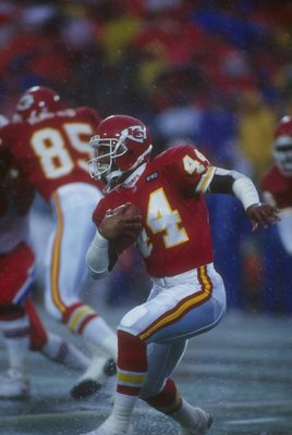 13 Dec 1992: Running back Harvey Williams of the Kansas City Chiefs runs with the ball during a game against the New England Patriots at Arrowhead Stadium in Kansas City, Missouri. The Chiefs won the game, 27-20.