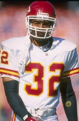 27 Oct 1996: Running back Marcus Allen of the Kansas City Chiefs looks on during a game against the Denver Broncos at Mile High Stadium in Denver, Colorado. The Broncos won the game, 34-7.