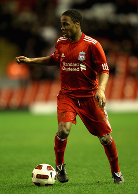 LIVERPOOL, ENGLAND - FEBRUARY 14:  Raheem Sterling of Liverpool in action during the FA Youth Cup match between Liverpool and Southend United at Anfield on February 14, 2011 in Liverpool, England.  (Photo by Clive Brunskill/Getty Images)
