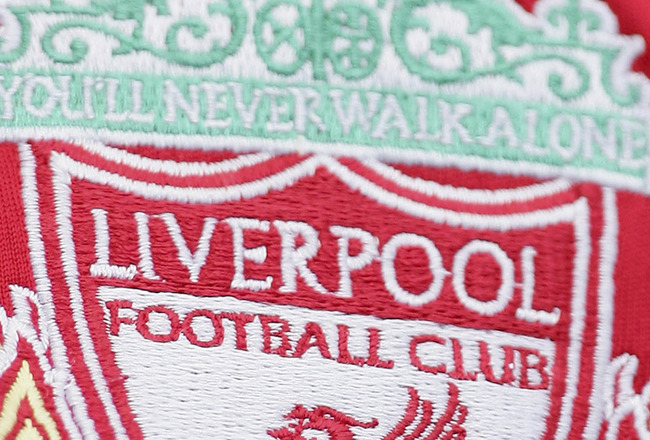 LIVERPOOL, UNITED KINGDOM - SEPTEMBER 23: The Liverpool badge on a fans shirt during the Barclays Premiership match between Liverpool and Tottenham Hotspur at Anfield on September 23, 2006 in Liverpool, England.  (Photo by Laurence Griffiths/Getty Images)