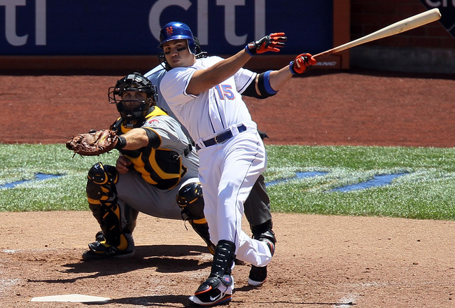 NEW YORK, NY - JUNE 02:  Carlos Beltran #15 of the New York Mets folows through on his third inning three run home run against the Pittsburgh Pirates on June 2, 2011 at Citi Field in the Flushing neighborhood of the Queens borough of New York City. The Me