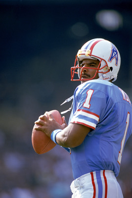 Warren Moon with Houston Oilers