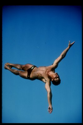 1984: Diver Greg Louganis of the USA in action. Mandatory Credit: Tony Duffy/Allsport