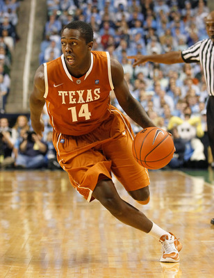 GREENSBORO, NC - DECEMBER 18:  J'Covan Brown #14 of the Texas Longhorns against the North Carolina Tar Heels at Greensboro Coliseum on December 18, 2010 in Greensboro, North Carolina.  (Photo by Kevin C. Cox/Getty Images)