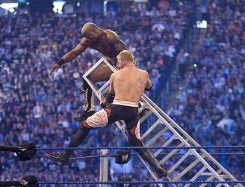 Shelton Benjamin Falling from a Ladder