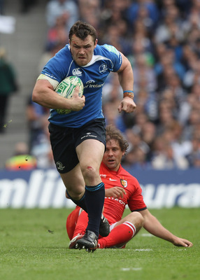 DUBLIN, IRELAND - APRIL 30:  Cian Healy of Leinster runs with the ball during the Heineken Cup semi final match between Leinster and Toulouse at Aviva Stadium on April 30, 2011 in Dublin, Ireland.  (Photo by David Rogers/Getty Images)