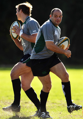 MELBOURNE, AUSTRALIA - JUNE 12:  Rory Best spins out of a tackle during an Ireland training session at Melbourne Harlequins Club on June 12, 2008 in Melbourne, Australia.  (Photo by Mark Dadswell/Getty Images)