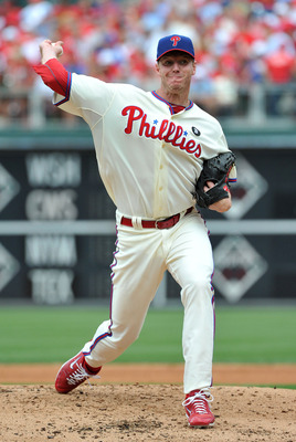 PHILADELPHIA - JUNE 26: Roy Halladay #34 of the Philadelphia Phillies delivers a pitch in the top of the third inning against the Oakland Athletics at Citizens Bank Park on June 26, 2011 in Philadelphia, Pennsylvania. (Photo by Christopher Pasatieri/Getty