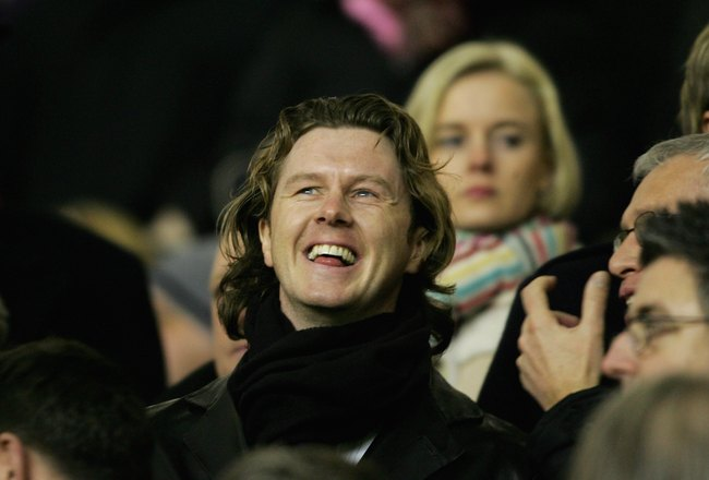 LIVERPOOL, UNITED KINGDOM - FEBRUARY 01:  Former Liverpool player Steve McManaman looks on during the Barclays Premiership match between Liverpool and Birmingham City at Anfield on February 1, 2006 in Liverpool, England.  (Photo by Jamie McDonald/Getty Im