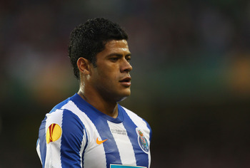 DUBLIN, IRELAND - MAY 18: Hulk of FC Porto  looks onduring the UEFA Europa League Final between FC Porto and SC Braga at Dublin Arena on May 18, 2011 in Dublin, Ireland.  (Photo by Alex Livesey/Getty Images)
