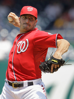 WASHINGTON, DC - JULY 03:  Starting pitcher Jason Marquis #21 of the Washington Nationals delivers to a Pittsburgh Pirates batter during the second inning at Nationals Park on July 3, 2011 in Washington, DC.  (Photo by Rob Carr/Getty Images)