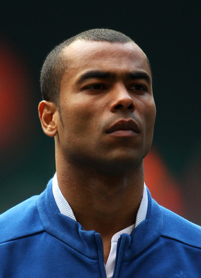 CARDIFF, WALES - MARCH 26:  Ashley Cole of England looks on during the UEFA EURO 2012 Group G qualifying match between Wales and England at the Millennium Stadium on March 26, 2011 in Cardiff, Wales.  (Photo by Alex Livesey/Getty Images)
