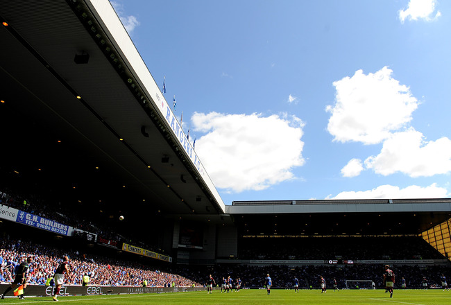 GLASGOW, SCOTLAND - JULY 23:  A general view during the Clydesdale Bank Premier League match between Rangers and Hearts at Ibrox Stadium on July 23, 2011 in Glasgow, Scotland.  (Photo by Chris Brunskill/Getty Images)