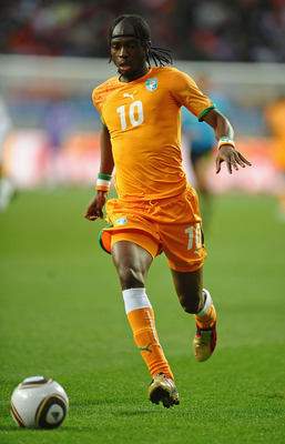 PORT ELIZABETH, SOUTH AFRICA - JUNE 15: Gervinho of Ivory Coast in action during the 2010 FIFA World Cup South Africa Group G match between Ivory Coast and Portugal at Nelson Mandela Bay Stadium on June 15, 2010 in Port Elizabeth, South Africa.  (Photo by