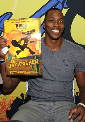 SAN DIEGO, CA - JULY 23:  NBA basketball player Dwight Howard attends Disney XD'S 'Kick Buttowski Suburban Daredevil' on July 23, 2011 in San Diego, California.  (Photo by Frazer Harrison/Getty Images)